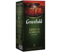 "Чай GREENFIELD ""Kenyan Sunrise"", черный, 25 пакетиков в конвертах по 1,5 г (620224)"