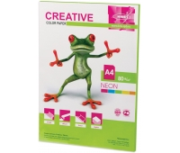 Бумага CREATIVE color (Креатив) А4, 80г/м, 50 л. неон салатовая, БНpr-50с, ш/к 44882 110516