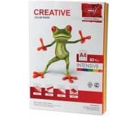 Бумага CREATIVE color (Креатив) А4, 80г/м, 100 л (5 цв.х20л.) цветная интенсив, БИpr-100r, ш/к 44486 110504