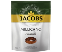 "Кофе молотый в растворимом JACOBS MONARCH ""Millicano"", 150г, мягкая упаковка, 47647 620411"
