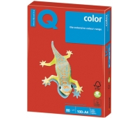 Бумага IQ color, А4, 80 г/м2, 100 л., интенсив кораллово-красная, CO44