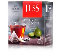 Чай Tess Earl Grey Secret бергамот и ванила 20 пакетиков, 515775
