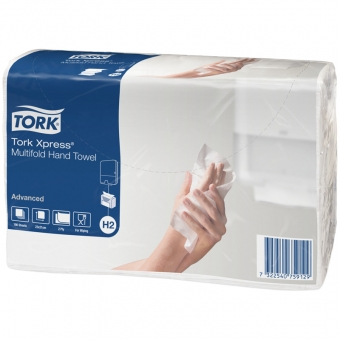Полотенце бумажное TORK Xpress Advanced, 2сл, белый, 23,4х21, Multifold, (дисп.600282) АРТ.471105/471117